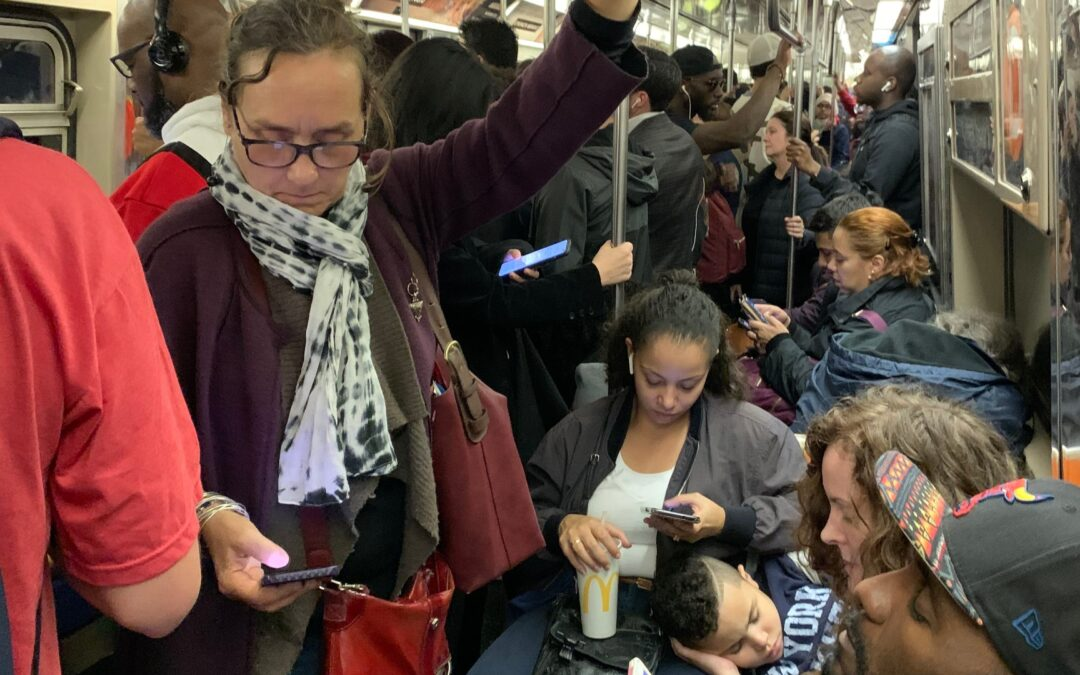 Crowded Subway Car