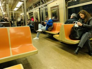Almost Empty Subway Car