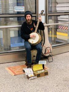Banjo Player Thomas Kopie